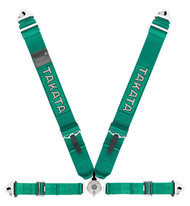 """Takata Race 4 Snap / Bolt - 4 Point 3"""" Racing Seat Belt Harness (Green or Black)"""