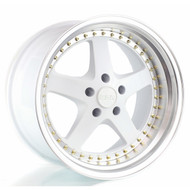 ESR SR04 wheel in gloss white face machined lip