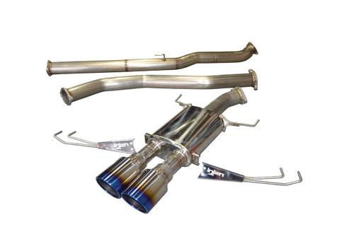 Injen 17-18 Honda Civic Type-R 3in SS Cat-Back Exhaust w/ Dual Burnt Titanium Tips