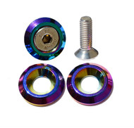 Neo Chrome License Plate Bolts