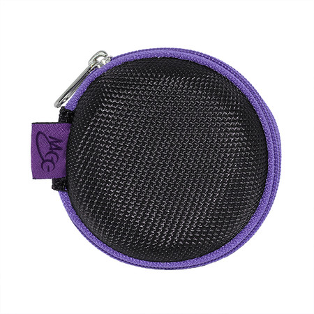 Nylon Round Zipper Carrying Case for Earphones