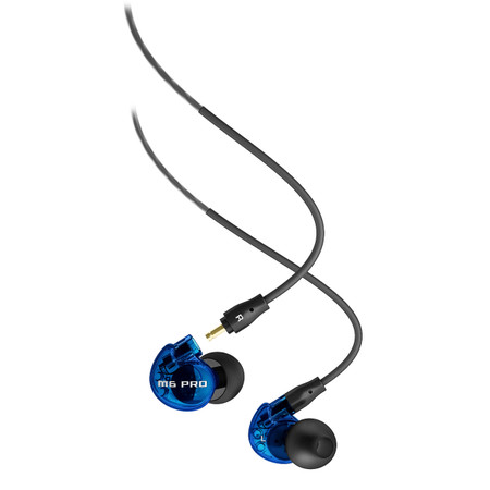 M6 PRO Universal-fit Noise-Isolating Musician's In-Ear Monitors with Detachable Cables (Blue LIMITED EDITION)