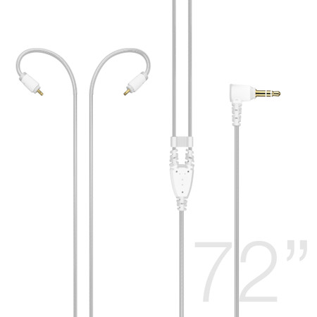 M6 PRO 72-inch Extended-length Stereo Audio Cable (2nd Generation) (Clear)