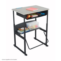 Safco AlphaBetter® Desk, 28 x 20 Standard Top with Book Box
