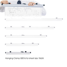 """Safco 18"""" Hanging Clamps for 18"""" x 24"""" Sheets  (Qty. 6)"""