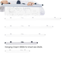 """Safco 24"""" Hanging Clamps for 24"""" x 36"""" Sheets  (Qty. 6)"""