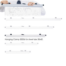 "Safco 30"" Hanging Clamps for 30"" x 42"" Sheets  (Qty. 6)"