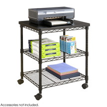 Safco Deskside Wire Machine Stand - Black