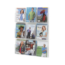Safco Clear2c™  9 Magazine Display