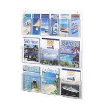 Safco Clear2c™ 6 Magazine and 6 Pamphlet Display