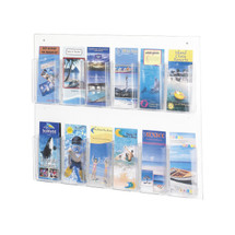 Safco Clear2c™ 12 Pamphlet Display