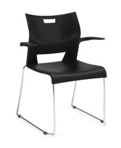 Global DUET-Sledbase armchair BLACK 6620