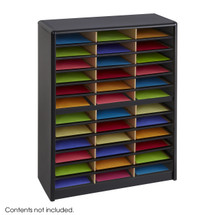 Safco Value Sorter® Literature Organizer, 36 Compartment