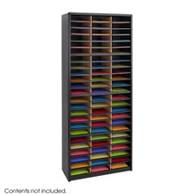 Safco Value Sorter® Literature Organizer, 72 Compartment