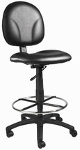 Boss Caressoft Drafting Stool W/Footring B1690-CS