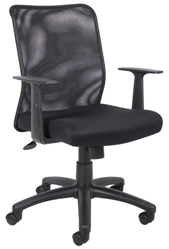 Boss Budget Mesh Task Chair W/ T-Arms B6106