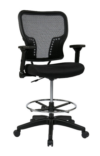 Office Star Deluxe Air Grid® Back And Padded Mesh Seat Chair With 4 Way