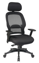 Office Star Breathable Mesh Back Chair with Adjustable Headrest and Mesh Seat 25004