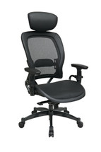 Office Star Mesh Black Chair with Adjustable Headrest 27876