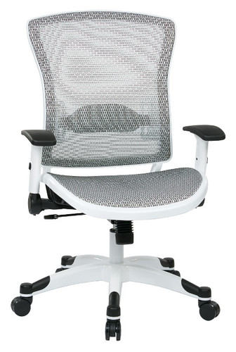 Office Star Managers Chair with Mesh Seat and Back, Height ...