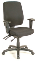 Office Star High Back Dual Function Ergonomic Chair with Ratchet Back Height Adjustment with Arms 33347-30