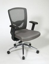 Office Star Grey ProGrid® High Back Chair with Adjustable Arms 511342AL