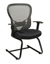 Office Star Deluxe R2 SpaceGrid® Back Visitors Chair 529-3R2V30