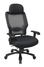 Office Star Big and Tall Professional AirGrid® Back and Mesh Seat with Adjustable Headrest 63-37A773HM
