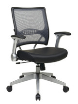 Office Star AirGrid® Back And Eco Leather Seat Managers Chair With Flip  Arms 67