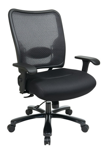 Office Star Big U0026 Tall Double AirGrid® Back And Black Mesh Seat Ergonomic  Chair 75