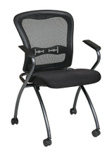 Office Star Deluxe Folding Chair with ProGrid® Back, (2-Pack) 84440-30