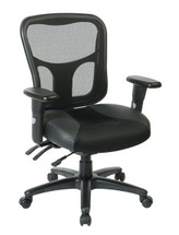 Office Star ProGrid® High Back Managers Chair with Leather and Mesh Seat 98346