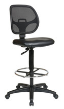 "Office Star Deluxe Mesh Back Drafting Chair with 20"" Diameter Foot ring Model DC2990V"