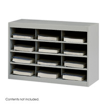 Safco E-Z Stor® Steel Project Organizer, 12 Compartments