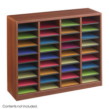 Safco E-Z Stor® Wood Literature Organizer, 36 Compartments