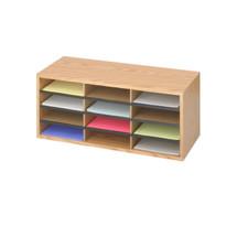 Safco Wood/Corrugated Literature Organizer, 12