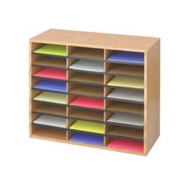 Safco Wood/Corrugated Literature Organizer, 24
