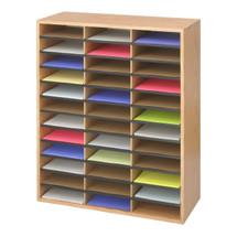 Safco Wood/Corrugated Literature Organizer, 36