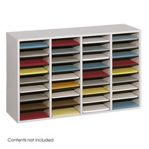 Safco Wood Adjustable Literature Organizer, 36 Compartment