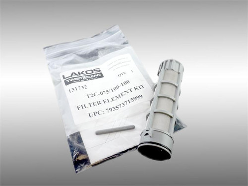 "Lakos T2C-075/100-100 Filter Element Kit 100# (150 Micron) Fits 3/4"" and 1"" Models (131732)"