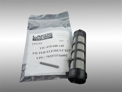 "Lakos T2C-075/100-140 Filter Element Kit 140# (105 Micron) Fits 3/4"" and 1"" Models (131733)"