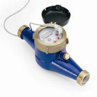 "Water Meter, Contacting Head, 3/4"" with reed switch sensor, 1 pulse per gallon output"