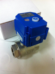 "KLD075-12VDC 3/4"" SS Motorized Ball Valve"