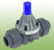 ECO Valve, Back Pressure/Pressure Relief Valve, Union Nut Connection, PVC