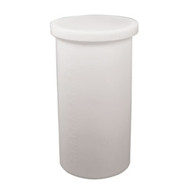 10 Gallon Polyethylene Straight Tank With Cover (Natural Color)