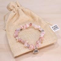Pink Opal Chip Bracelet