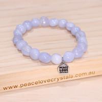Blue Lace Agate Pebble Bracelet