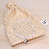 Clear Crystal Quartz Pebble Bracelet