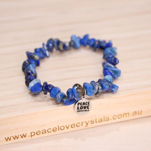 """Lapis Lazuli Chip Bracelet """"Awareness"""""""