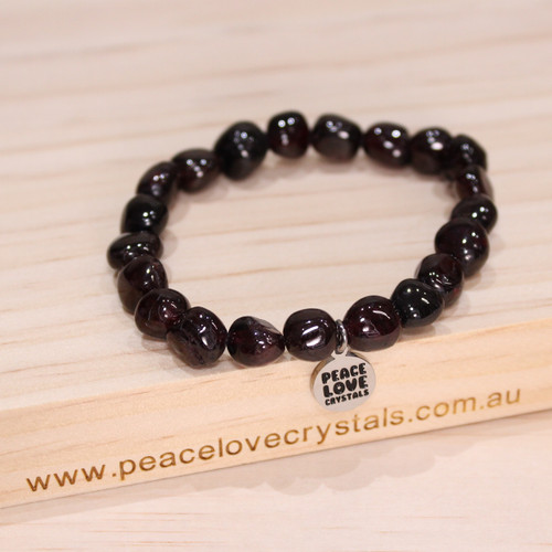Garnet Pebble Bracelet